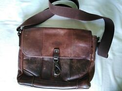 Vintage Fossil Crossbody Briefcase Bag