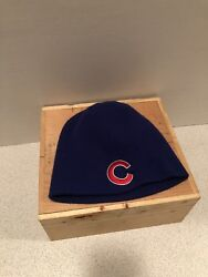 Chicago Cubs Old Style Beer Winter Cap Skully Hat One Size Cap Patches Mlb Rare