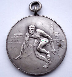 Pinches London Athletics Medal 32.75mm 14.4g Silver Plated Bronze K14.3
