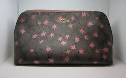 COACH F37552 Cosmetic Bag Travel Make up Toiletry Stars  Large