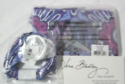 Vera Bradley Lilac Tapestry Lanyard And Zip Id Ring Clip Keys Key Coin Case Nwt
