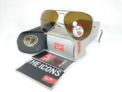 Ray Ban Aviator RB3025 001 57 Gold Frame Brown Polarized lens 58mm $89.95