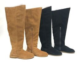 Ugg Australia Loma Over the Knee Boot Black or Chestnut 1095394 Suede Tall Boots $89.99