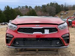2019 Kia Forte Cut-off Front End Clip Nose Red S-trim Nto Iihs Test Vehicle