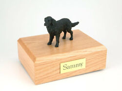 Flat Coated Retriever Pet Funeral Cremation Urn Avail In 3 Dif Colors And 4 Sizes