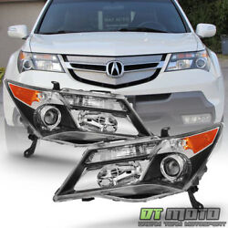 [hid Model] 2007-2009 Acura Mdx Headlights Without Adaptive Headlamps Left+right
