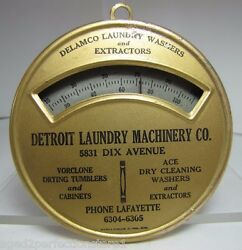 Old Detroit Laundry Machinery Co Advertising Thermometer Brown And Bigelow Minn