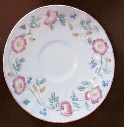 Vintage English Churchill Floral China Saucer Plate England Lot Of 8