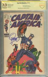 Captain America 111 Cbcs Not Cgc Signed Jim Steranko - Your Choice No Offers