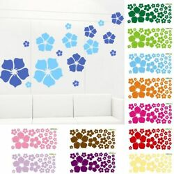 Removable Flowers Wall Sticker Home Decor Decal Living Room Bedroom Color Plant