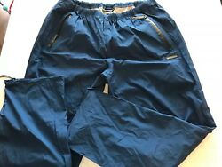 Rei Elements Rain Pants Menandrsquos 41x32 Hiking Camping Lightweight Zip Ankle Ts8