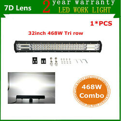 7d+trirow 32inch 468w Led Light Bar Combo Offroad 4wd Atv Suv Ford Pk 30/33 216w