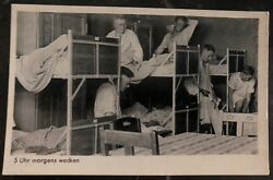 Mint Germany Rppc Postcard Wake Up At 5 Oandrsquoclock In The Morning Army Wehrmacht