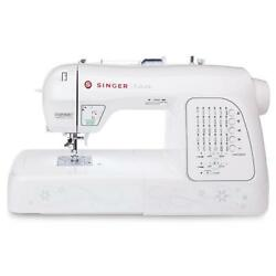Singer Futura 200 Built-In Embroidery Designs Sewing Machine Bag Stitching White
