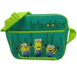 Kids & Adults - Minions the Movie Green Shoulder Messenger bag for school