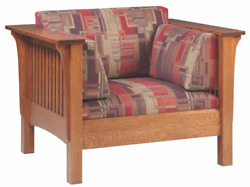 Mission Arts And Crafts   Stickley Style   Prairie Spindle   High Back Chair
