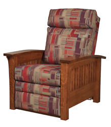 Mission Arts And Crafts   Stickley Style   Prairie Spindle   Mission Recliner