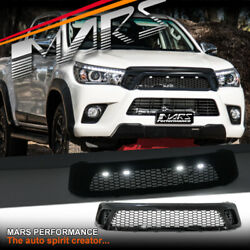Gloss Bumper Bar Grill Mesh And Led For Toyota Hilux Ute 15-18 And Rugged 15-20 Trd