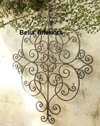 New Large Horchow 53 Tuscan Scroll Wall Grille Garden Out Door Medallion