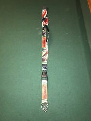 Jagermeister Lanyard 18 Drop With 4 Removable Clip Key Chain Id Badge Holder
