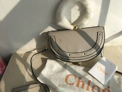 Chloé+Nile bracelet Crossbody+Bag  Gray Leather+Authentic! $ 1000
