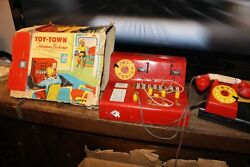 CODEG TELEPHONE SWITCHBOARD WITH BOX VINTAGE 1950s RARE TIN TOY BRITIAN PHONE