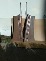 1937-1938 Buick Special Hood Sides W/stainless Moldings Trim Mouldings 37-38