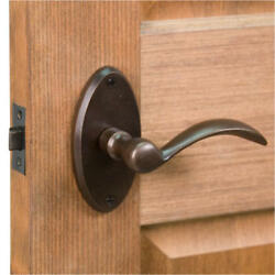 Thurston Oval Solid Bronze Lever Set Privacy Passage and Dummy