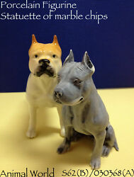 Figurine dog  Bull Terrier  Marble Stone  Porcelain  Collection  Pit Bull