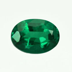 Certified 0.77ct Zambia Natural Emerald Oval 7 X 5 Mm Loose Gemstone 245_video
