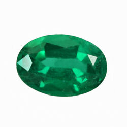 Certified 0.97 Ct Zambia Natural Emerald Oval 7.5x5.2 Loose Gemstone 247_video