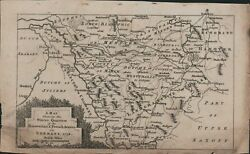 1758 Map Germany Saxony Winter Quarters Hanoverian And French Armies. C6.1167