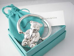 And Co Rare Sterling Silver Bear Adorable Baby Rattle - Excellent No Dents