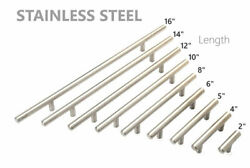 Lot 2-16 Solid Stainless Steel Kitchen Cabinet Handles T Bar Pull Hardware
