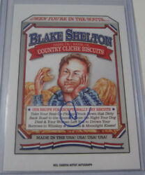 2017 Wacky Packages Blake Shelton Same Ol Country Biscuits Neil Camera Auto D35