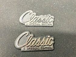 Set Of 2 Andldquoclassicandrdquo A Special Edition Emblems In Chrome Classic Cars