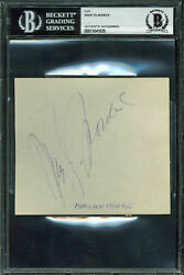 Marilyn Monroe Authentic Signed 5x4.5 Cut Signature Autographed BAS Slabbed