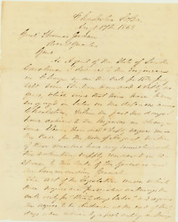 William Shannon Letter Negotiating with Beauregard to Release Slaves to Masters