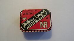 Vintage Laxative Natures Remedy Tin