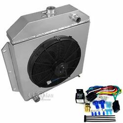 Ford Cars Ford V8 Eng Radiator, Shroud, 16fan And Relay, Champion Aluminum 3 Row