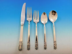 Mansion House By Heirloom Oneida Sterling Silver Flatware Set 8 Service 41 Pcs