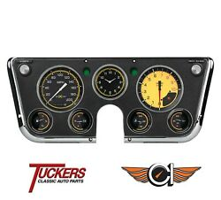 Auto Cross Yellow 1967 - 1972 Chevy Gmc Truck Gauges Classic Instruments Ct67axy