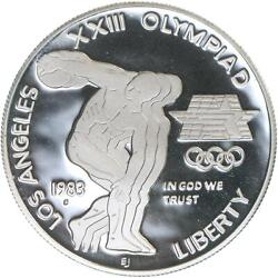 1983 S Los Angeles Olympics Proof Commemorative 90 Silver Dollar Us Coin