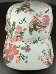 Time And Tru Women's Floral Flower Painted Design Ball Cap Hat Hook And Loop