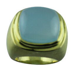 Blue Onyx 20.47 Ct Women Wedding Gift Ring Solid Gold Amazing Event Top Jewelry