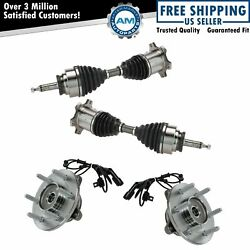 Front Cv Axle Shafts And Wheel Hub Bearing Assemblies Set Of 4 For Ford Lincoln