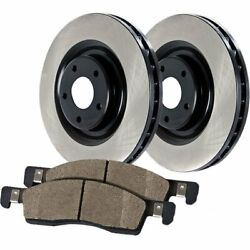 909.35024 Centric Brake Disc and Pad Kits 2-Wheel Set Front New
