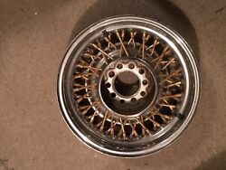 15 Ford Lincoln Gold Wire Wheels Set Of 3 Only 15x6 52 Spokes 2 3/4 Backset