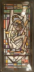 Queen Of Heaven Mausoleum Stained Glass Painting Daprato Rigali Chicago Outfit