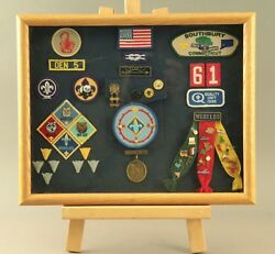 Cub Scout Weand039ll Do Our Best Medal Pin Badges Patches In Oak Frame